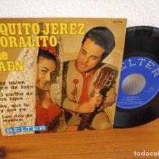 Discos de vinilo: EP PAQUITO JERÉZ Y CORALITO DE JAÉN - HAY QUIEN DICE DE JAÉN + 3 - BELTER (1969). Lote 243196045