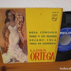 Discos de vinilo: EP LUISA ORTEGA - ROSA CONSUELO + 3 - PHILIPS (1966). Lote 243196255