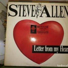 Discos de vinilo: DISCO DE VINILO STEVE ALLEN - LETTER FROM MY HEART. Lote 243207130