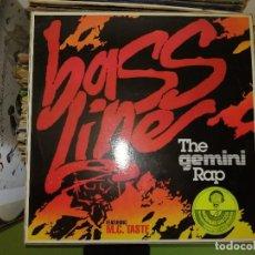Discos de vinilo: DISCO DE VINILO BASS LINE - THE GEMINI RAP. FEATURING M.C. TASTE. Lote 243209260