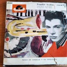 Discos de vinilo: FRANKIE AVALON - GINGER BREAD + 3 ******* RARO EP ESPAÑOL 1959. Lote 243213000