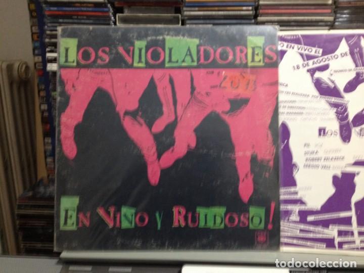 LOS VIOLADORES - EN VIVO Y RUIDOSO! LP DE VINILO MADE IN ARGENTINA 1990. COVER VG+ VINYL NM (Música - Discos - LP Vinilo - Punk - Hard Core)