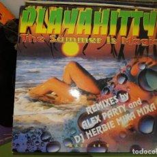 Discos de vinil: DISCO DE VINILO PLAYA HITTY - THE SUMMER IS MAGIC. REMIXES BY ALEX PARTY AND DJ HERBIE MIXA MIXA.. Lote 243214170