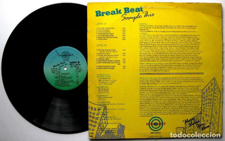 Discos de vinilo: Tony D - Music Makes You Move - LP Sure Shot Records 1989 USA BPY - Foto 2 - 243217860