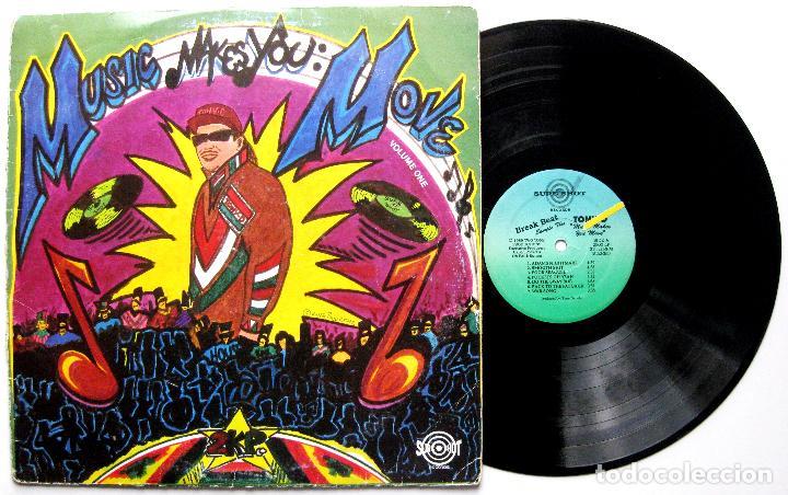 TONY D - MUSIC MAKES YOU MOVE - LP SURE SHOT RECORDS 1989 USA BPY (Música - Discos - LP Vinilo - Rap / Hip Hop)
