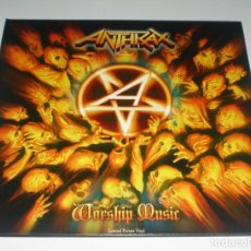 Discos de vinilo: LP ANTHRAX - WORSHIP MUSIC. Lote 243243660