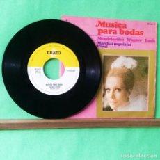 Discos de vinilo: MUSICA PARA BODAS .WARNER. BACH. 4 CANCIONES - LIMPIO TRATADO CON ALCOHOL ISOPROPÍLICO. Lote 243252025