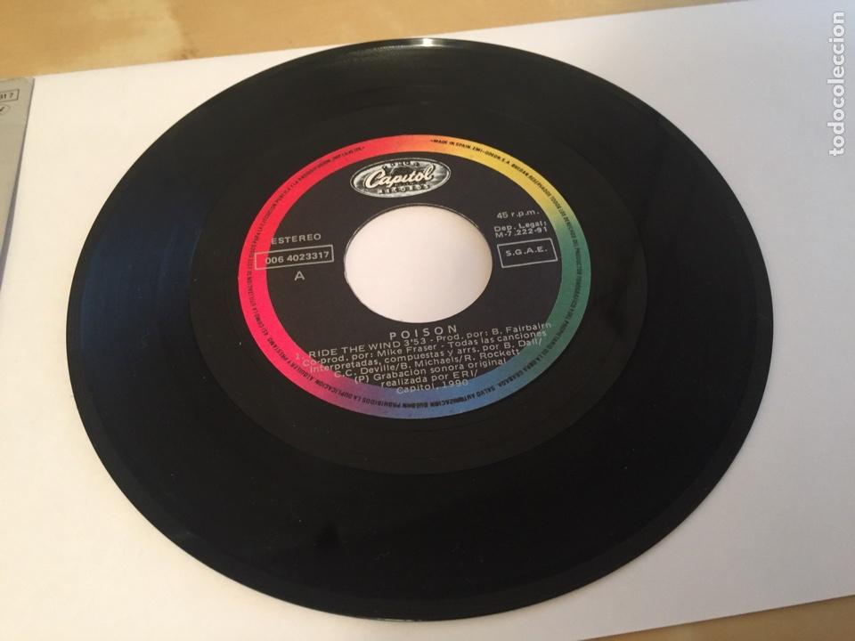 """Discos de vinilo: Poison - Ride The Wind - SINGLE PROMO RADIO 7"""" - 1991 - Foto 2 - 243252040"""