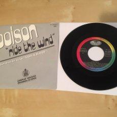 """Discos de vinilo: POISON - RIDE THE WIND - SINGLE PROMO RADIO 7"""" - 1991. Lote 243252040"""