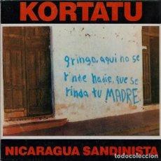 Disques de vinyle: KORTATU NICARAGUA CLANDESTINA. Lote 243255700