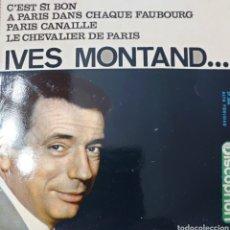 Discos de vinilo: YVES MONTAND EP SELLO DISCOPHON EDITADO EN ESPAÑA AÑO 1963.... Lote 243278620