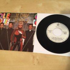 """Discos de vinil: OLE OLE - TE DARE TODO - SINGLE PROMO RADIO 7"""" - 1990. Lote 243285100"""