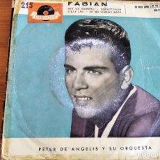 Discos de vinilo: FABIAN - I'M A MAN + 3 ************** RARO EP ESPAÑOL 1959. Lote 243295685