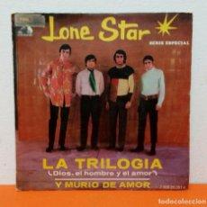 Discos de vinilo: LONE STAR - LA TRILOGÍA + Y MURIÓ DE AMOR - SINGLE VINILO. Lote 243308565