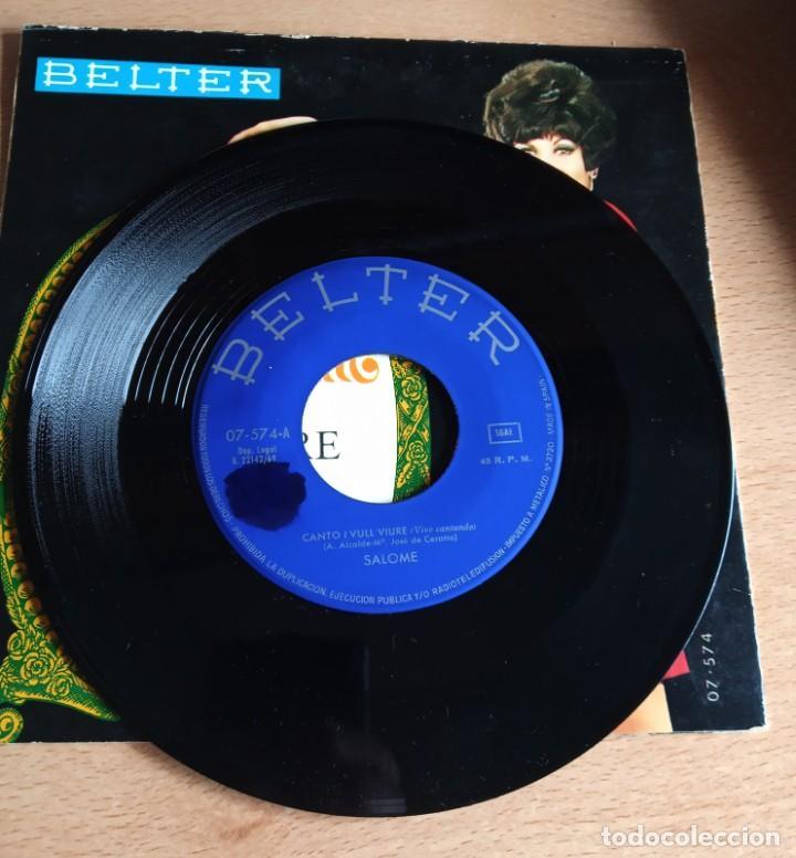 Discos de vinilo: SINGLE SALOME - CANTO I VULL VIURE - ( VIVO CANTANDO EN CATALAN) - Foto 3 - 243309850