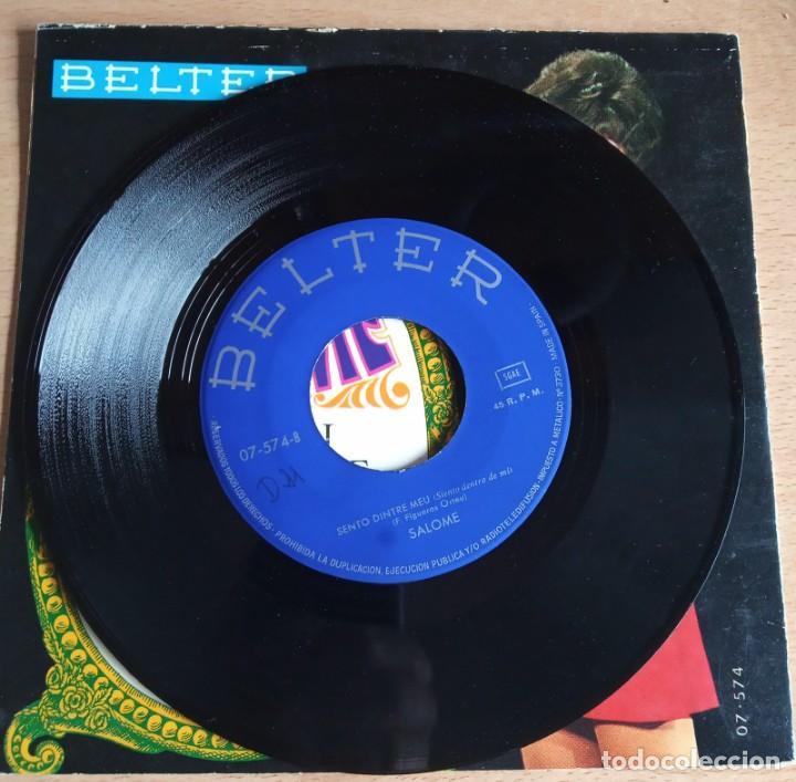 Discos de vinilo: SINGLE SALOME - CANTO I VULL VIURE - ( VIVO CANTANDO EN CATALAN) - Foto 4 - 243309850
