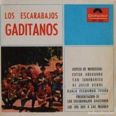 Discos de vinilo: LOS ESCARABAJOS GADITANOS//CUPLES DE MOSQUERA+3//EP//1965//POLYDOR. Lote 243333395