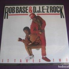 Disques de vinyle: ROB BASE & D.J. E-Z ROCK* – IT TAKES TWO - LP BCM 1988 PRECINTADO - HIP HOP -. Lote 243340640