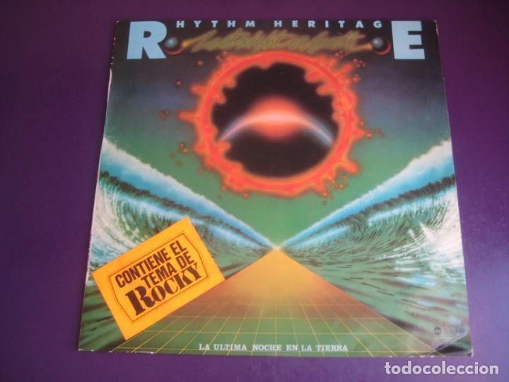 RHYTHM HERITAGE – LAST NIGHT ON EARTH - LP ABC MEDITERRANEO 1977 - SOUL ELECTRONICA 70S - ROCKY BSO (Música - Discos - LP Vinilo - Funk, Soul y Black Music)