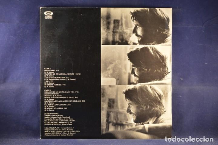 Discos de vinilo: JOAQUÍN SABINA - INVENTARIO - LP - Foto 2 - 243382040