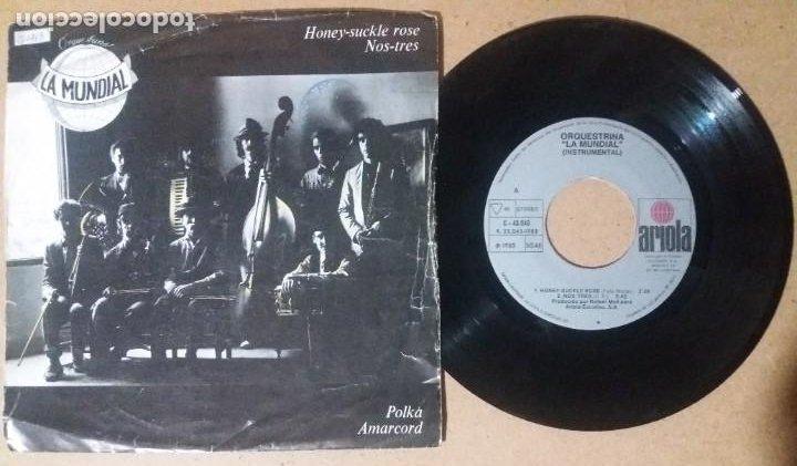 ORQUESTRINA LA MUNDIAL / HONEY-SUCKLE ROSE / SINGLE 7 PULGADAS (Música - Discos - Singles Vinilo - Grupos Españoles de los 70 y 80)