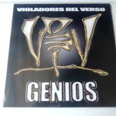 Discos de vinilo: VIOLADORES DEL VERSO LP DOBLE GENIOS 2020 REED DESCATALOGADA YA HIP HOP RAP VKS 7N7C. Lote 243387100