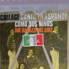"""Discos de vinilo: SINGLE DE COLLAGE ."""" COMO DOS NIÑOS """" EDITADO POR HISPAVOX - 1977. Lote 235108895"""