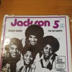 Disques de vinyle: THE JACKSON FIVE. SUGAR DADDY. SINGLE SOLO CARÁTULA.. Lote 243399205