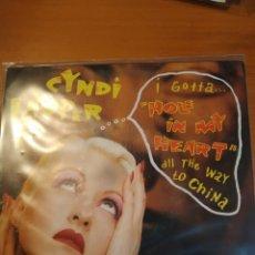 Discos de vinilo: CYNDI LAUPER. HOLE IN MY HEART. SINGLE.. Lote 243400575