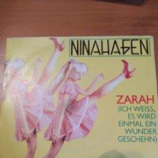 Discos de vinilo: NINA HAGEN. ZARAH. SINGLE.. Lote 243402445