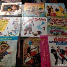 Discos de vinilo: ANTIGUOS VINILOS EP CANCIONES INFANTILES. HEIDI, VILLANCICOS,PANDILLA, GATO CON BOTAS, CENICIENTA. Lote 243405460