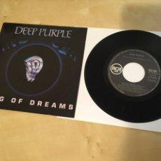 "Discos de vinilo: DEEP PURPLE - KING OF DREAMS - SINGLE PROMO RADIO 7"" - 1990. Lote 243423190"