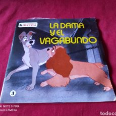 Discos de vinilo: SINGLES CUENTO DISCOS BRUGUERA-LA DAMA Y EL VAGABUNDO. Lote 243431190