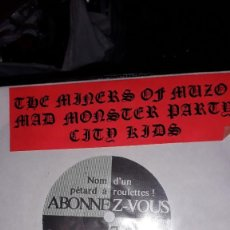 """Discos de vinilo: E.P. 7"""" 45 RPM - THE MINERS OF MUZO """"1989""""//MAD MONSTER PARTY """"ALL I DO"""", CITY KIDS """"IT'S NOT A. Lote 243431670"""