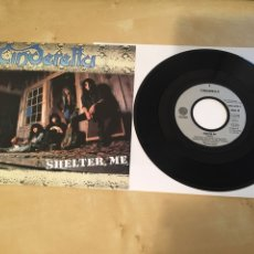 """Discos de vinilo: CINDERELLA - SHELTER ME - SINGLE RADIO 7"""" - 1990. Lote 243440405"""
