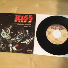 "Discos de vinilo: KISS - CHRISTINE SIXTEEN / SHOCK ME - SINGLE RADIO 7"" - 1977 ESPAÑA. Lote 243444565"