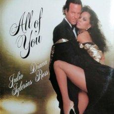 Discos de vinilo: JULIO IGLESIAS CON DIANA ROSS - ALL OF YOU - MAXI SINGLE DE VINILO PROMOCIONAL #. Lote 243452020