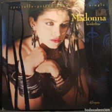 Discos de vinilo: MADONNA - BORDERLINE - MAXISINGLE - USA - EXCELENTE - NO USO CORREOS. Lote 243454700