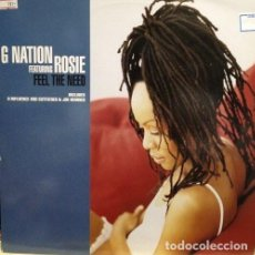 Discos de vinilo: G NATION FEATURING ROSIE – FEEL THE NEED. Lote 243455095