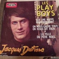 Discos de vinilo: JACQUES DUTRONC–LES PLAY BOYS. EP FRANCÉS 1966.. Lote 243461240