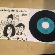 """Discos de vinilo: SOPA DE CABRA - EL BOIG DE LA CIUTAT / ON ETS - SINGLE PROMO RADIO 7"""" - 1992. Lote 243463910"""