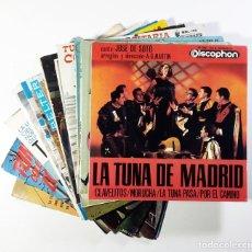 Discos de vinilo: VVAA TUNA LOTE 12 EPS TUNAS MADRID BARCELONA VALENCIA BURGOS. Lote 243466170