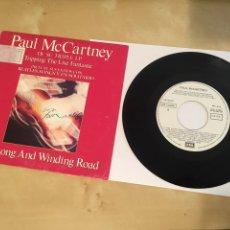 "Discos de vinilo: PAUL MCCARTNEY (BEATLES) LONG AND WINDING ROAD - SINGLE PROMO RADIO 7"" - 1990. Lote 243467030"