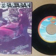 Discos de vinilo: LOS QUE FALTABAN / NO ME RENDIRE / SINGLE 7 PULGADAS. Lote 243473040