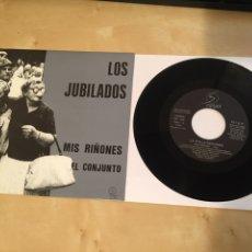 """Discos de vinilo: LOS JUBILADOS - MIS RIÑONES / EL CONJUNTO - SINGLE PROMO RADIO 7"""" - 1990 LA POLLA RECORDS. Lote 243473430"""
