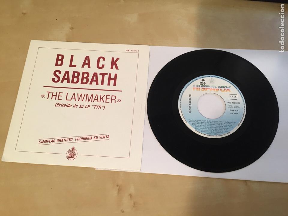 """BLACK SABBATH - THE LAWMAKER - SINGLE PROMO RADIO 7"""" - 1990 (Música - Discos - Singles Vinilo - Heavy - Metal)"""