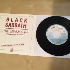 "Discos de vinilo: BLACK SABBATH - THE LAWMAKER - SINGLE PROMO RADIO 7"" - 1990. Lote 243474635"