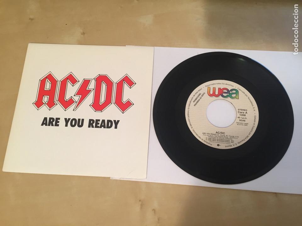 "AC/DC - ARE YOU READY - SINGLE PROMO RADIO 7"" - 1991 ESPAÑA (Música - Discos - Singles Vinilo - Heavy - Metal)"