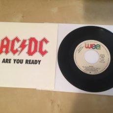 "Discos de vinilo: AC/DC - ARE YOU READY - SINGLE PROMO RADIO 7"" - 1991 ESPAÑA. Lote 243484535"