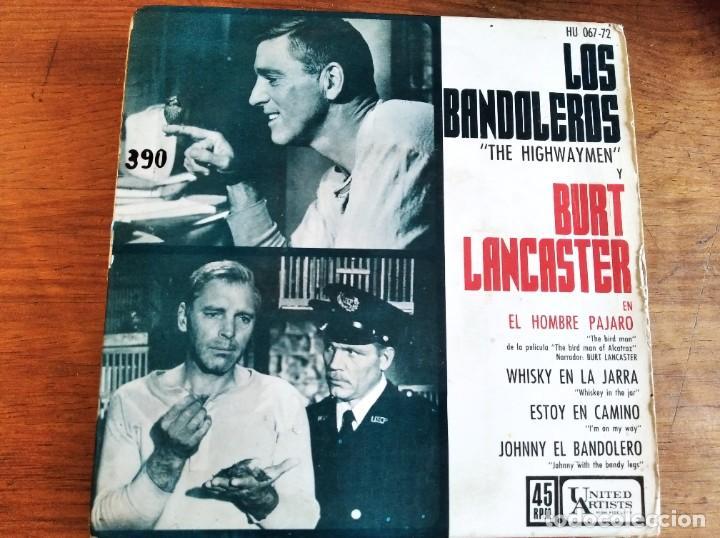 THE HIGHWAYMEN BURT LANCASTER ********* RARO EP ESPAÑOL BIRD MAN OF ALCATRAZ 1962 (Música - Discos de Vinilo - EPs - Bandas Sonoras y Actores)